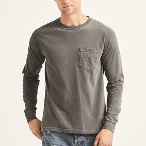 Garment-Dyed Heavyweight Long Sleeve Pocke…